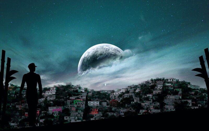 scenery, moon, sky